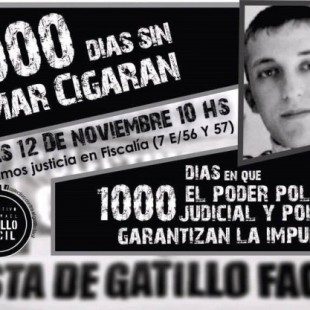 Movilización a 1000 días del asesinato de Omar Cigarán