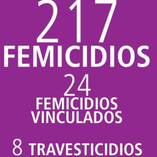 217 femicidios en un año