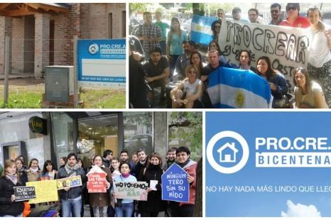 Beneficiarios del ProCreAr movilizan al Banco Hipotecario