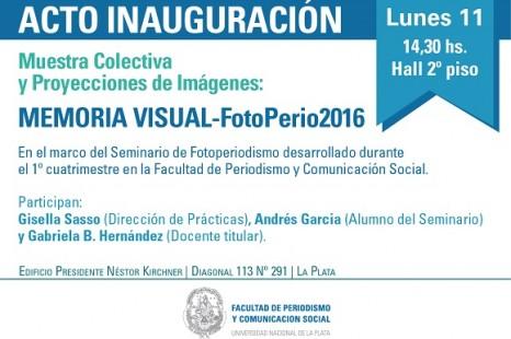 Se inaugura la muestra «Memoria visual – Fotoperio 2016»
