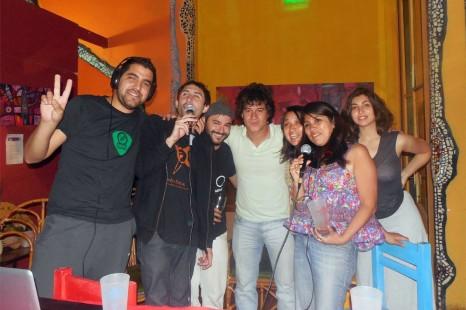 Transmisión especial de Radio Estación Sur en la Fiesta de la Cerveza