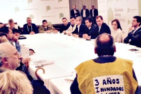 """Asambleas de inundados se reunieron con Vidal y Garro: """"No nos llevamos ningún dato concreto"""""""