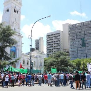 Reclamos de organizaciones sociales en La Plata