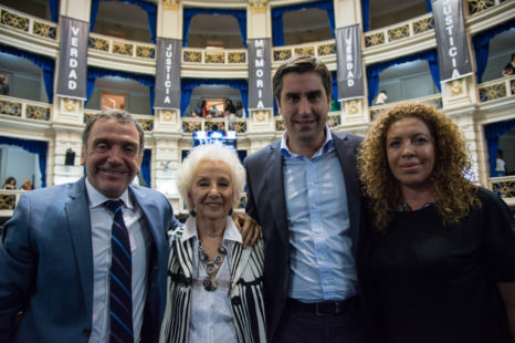 Estela de Carlotto inauguró en Diputados la Semana de la Memoria