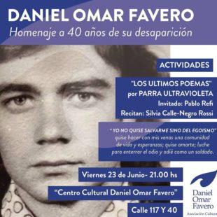 """""""Nos vamos a encontrar con Daniel, a través de su poesía vamos a escucharlo"""""""