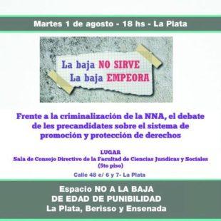 Los precandidatos debatirán sobre la criminalización de la niñez