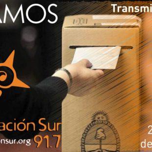 Elecciones: móvil desde el búnker de Cambiemos.