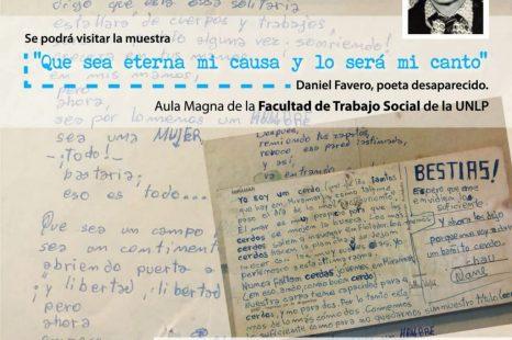 Muestra por Daniel Favero: «Que sea eterna mi causa y lo será mi canto»