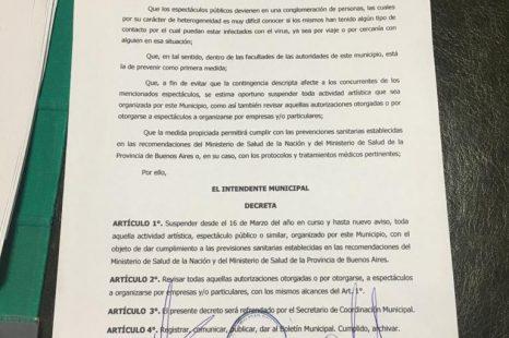 #CORONAVIRUS: Medidas en espacios públicos de La Plata, Berisso y Ensenada