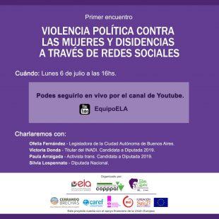 """Violencia de género en las redes: """"No tiene que ver con el partido político"""""""