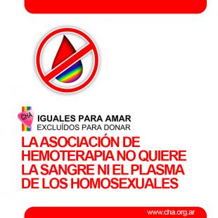 La Asociación Argentina de Hemoterapia discrimina a la comunidad homosexual: «Esto no es ningún error»