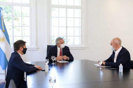 Se reunió el Presidente con Kicillof y Larreta