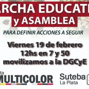 Se realizará una Marcha Educativa