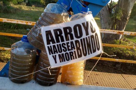 Vecinxs denuncian la contaminación del Arroyo Rodríguez