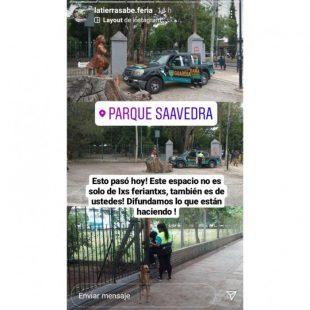 La municipalidad prohíbe el ingreso de artesanes y vecines a la parte cerrada del Parque Saavedra