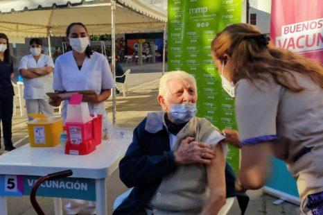 Ya fueron vacunados 40 mil bonaerenses mayores de 60 años