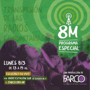 Se viene un nuevo 8M de FARCO que se podrá escuchar desde Radio Estación Sur