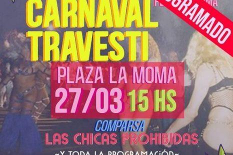El Carnaval Travesti se reprogramó para el sábado 27 de marzo