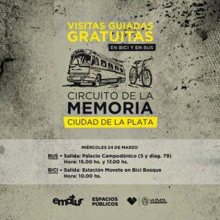 Este 24 de marzo habrá un «circuito de la memoria» en La Plata