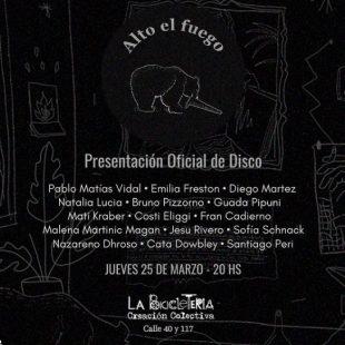 El colectivo Alto El Fuego tocará en vivo su disco de pandemia