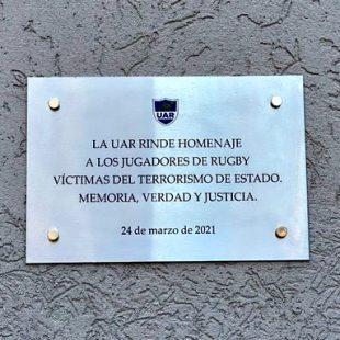 La Plata Rugby Club conmemoró por primera vez a los jugadores desaparecidos por la dictadura