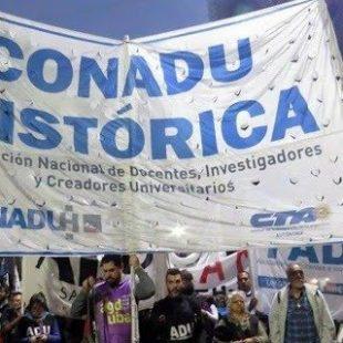La Conadu Histórica inició un paro de 48 horas por mejoras salariales