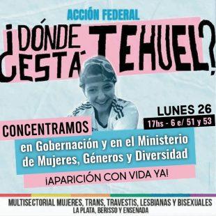 Convocaron una concentración para pedir que Tehuel aparezca con vida