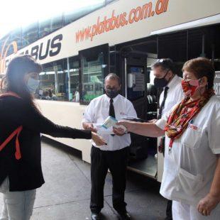Aumentaron los controles sanitarios en la Terminal de Ómnibus