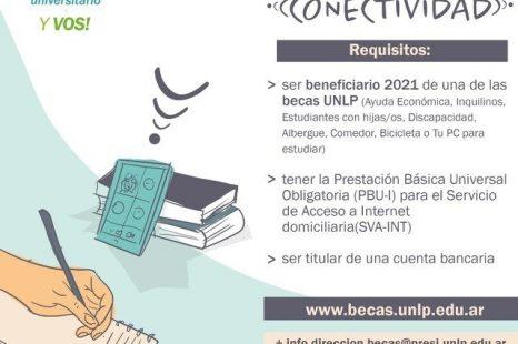 Abrieron las inscripciones para la beca de conectividad de la UNLP